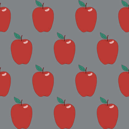 red apples: Seamless abstract hand-drawn pattern with red apples.