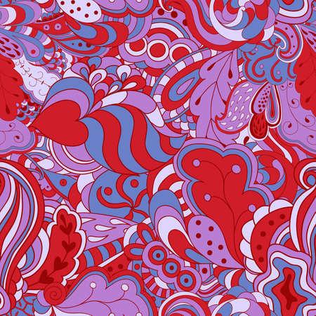 psychoanalysis: Seamless abstract hand-drawn waves pattern