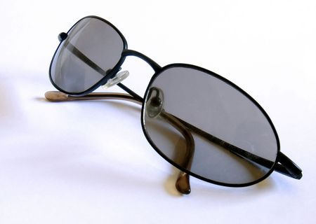 sun glasses on a white background photo