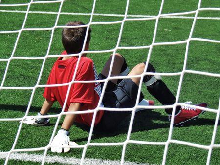 futball: goalkeeper Stock Photo