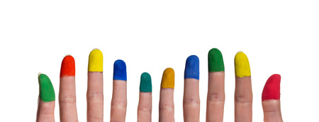 fingertips: colorful painted fingertips