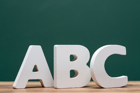 abc kids: abc letters in front of board