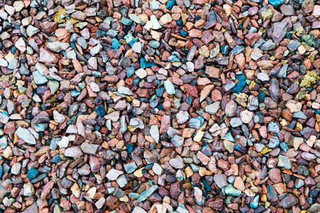 accumulation: Accumulation of crushed gravel in various colors