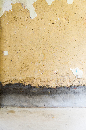 modernise: Old concrete wall in a building prepared for construction and renovation