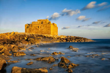 Medeival fort in Paphos, Cyprus shot with long exposure