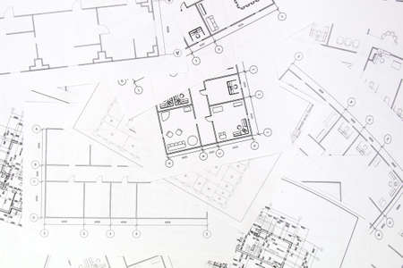 Architectural plan. Engineering house drawings and blueprints. Фото со стока