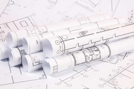 Plano arquitectónico. Planos y planos de casas de ingeniería.