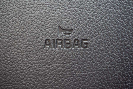 Airbag sign closeup