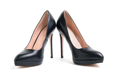 scarpe col tacco alto da donna isolate su sfondo bianco