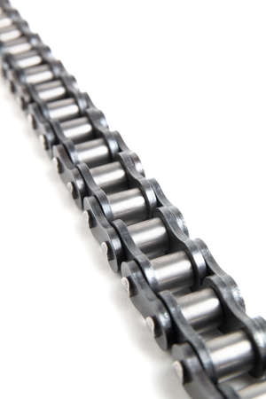 Driving roller chain isolated on a white background 版權商用圖片