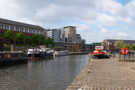 sheffield: Sheffield Victoria Quays canal basin Editorial