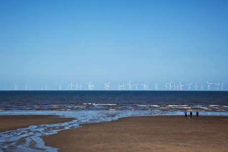 wind farm: Offshore wind farm wind turbines in North sea