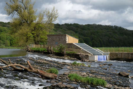 hydro electric: Community hydro electric power at Whalley Lancashire