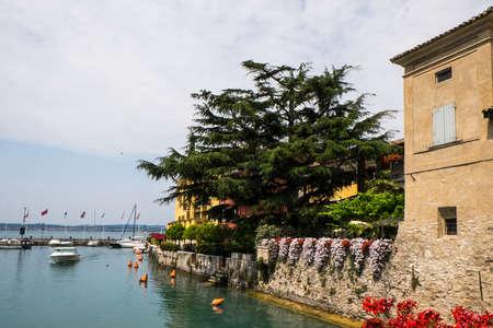 sirmione: Lakeside house at Sirmione Garda Stock Photo
