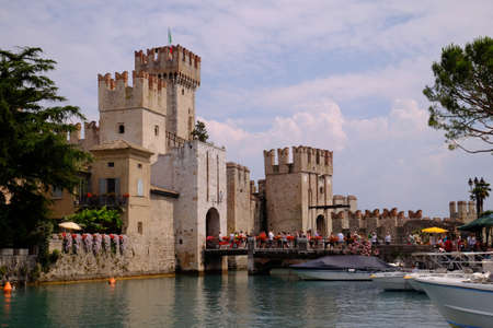 sirmione: Sirmione bridge to the castle and city walls