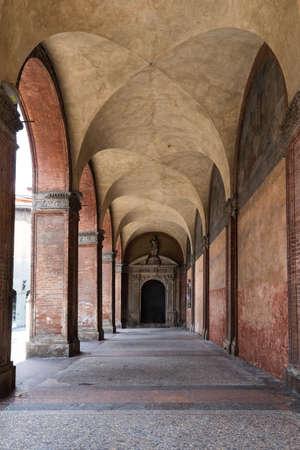portico: Bologna portico near university Stock Photo