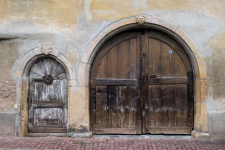 doorways: Large and small arched doorways