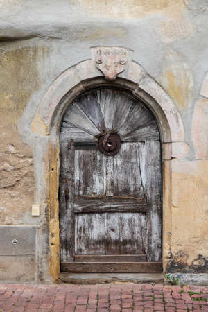 doorway: Arched doorway to old house