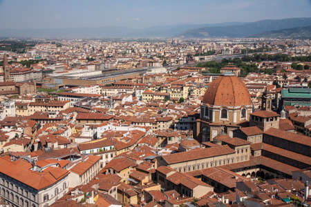 rooftops: Rooftops of Florence, Italy Stock Photo