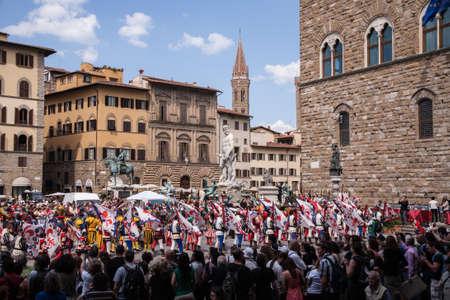 firenze: Medieval festival in Piazza dell Signori, Firenze