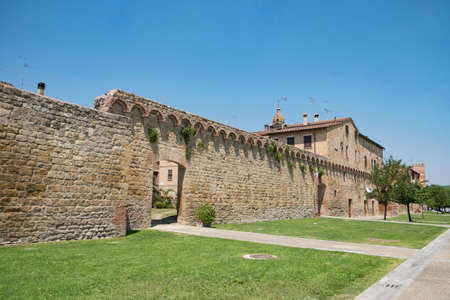 Walls of Buonconvento in Tuscany