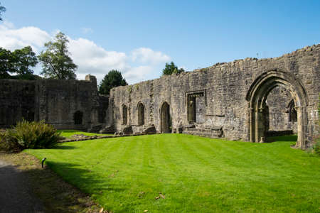 abbey ruins abbey: Ruins of cistercian abbey at Whalley, Lancashire Stock Photo