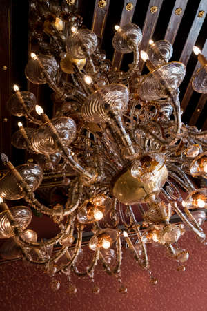 Murano: Murano glass chandelier in Venetian palace