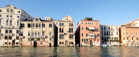 renovated: Dilapidated and renovated houses on Grand Canal, Venice