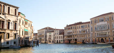 waterfront property: Old palaces on Grand Canal, Venice
