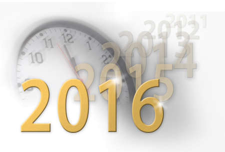 relentless: 2016 new year, relentless march of time Stock Photo