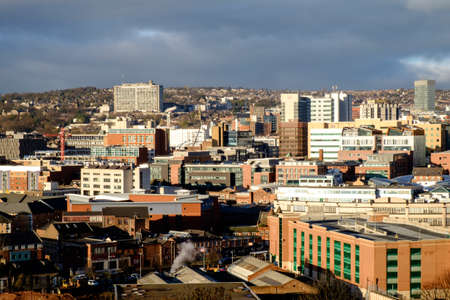 powerhouse: Sheffield city centre Stock Photo