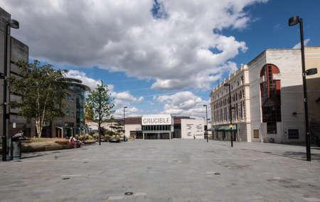 crucible: Crucible theatre, Sheffield Stock Photo