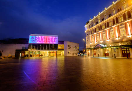 crucible: Sheffield crucible theatre, snooker venue
