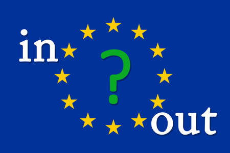 eec: EU referendum in the UK - in or out the big question Stock Photo