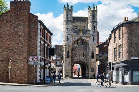 gatehouse: Monk Bar Gatehouse to the walled city of York, UK