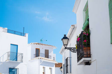 Frigiliana is a typical Andalucia village with whitewashed houses Stock Photo