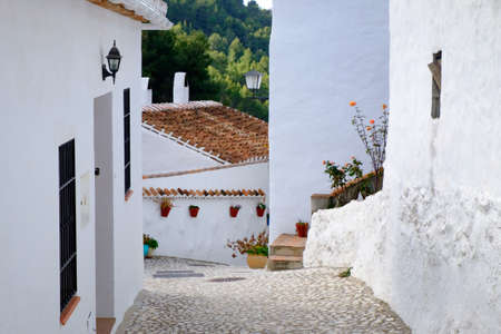 El Acebuchal, near Frigiliana, Spain. Tradition white village of Andalusia