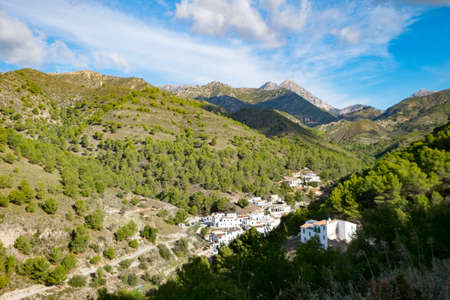 El Acebuchal, near Frigiliana, Spain. Known as the ghost village. Stock Photo
