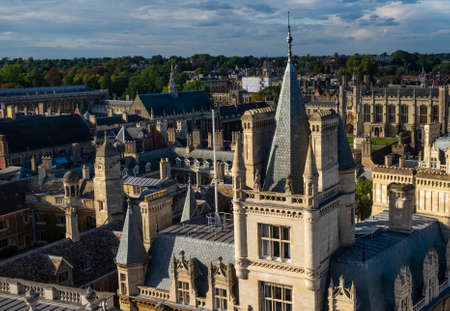 College rooftops at Cambridge, UK