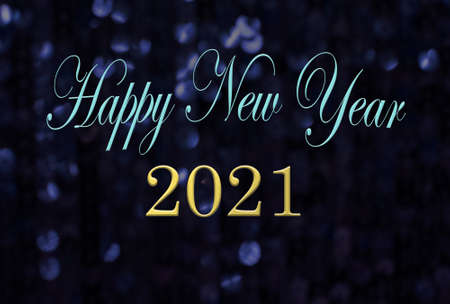 Happy new year 2021 message on sparkling background
