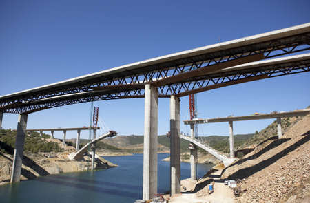 bridge construction: Bridge of a high speed railway under construction