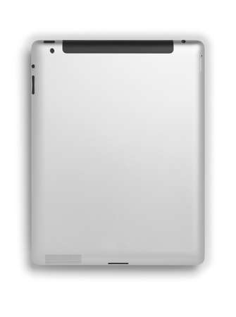 Digital Tablet PC  rear isolated on white background copy space photo