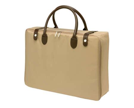 change purse: female bag isolated on the white background