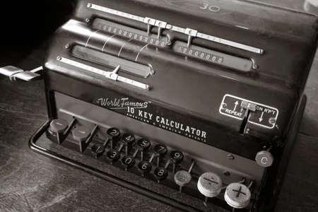 10 key: Original antique 10 key calculator retro revival cash register