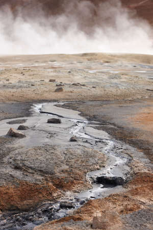 vents: Active volcanic zone with Geothermical vents in Iceland Krafla area
