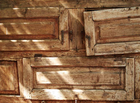 forniture: Old textured wood forniture drawers horizontal image                           Stock Photo