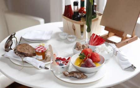 Photo of Hotel breakfast table with Lightweight meals photo