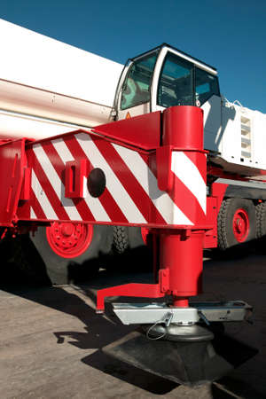 aerea: Mobile and telescopic crane detail in a construction aerea