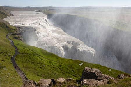 vapore acqueo: Islanda Gullfoss cascata e vapore acqueo