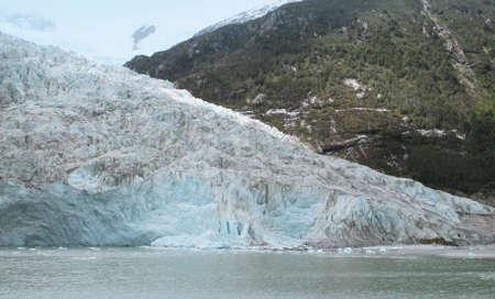 Glacier with mountain and lake  Argentina  Perito Moreno  Patagonia photo